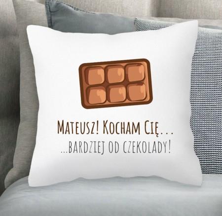 Poduszka miłosna Czekolada - personalizowany prezent na walentynki