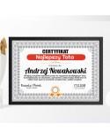 Certyfikat dla Taty na prezent - Najlepszy Tata