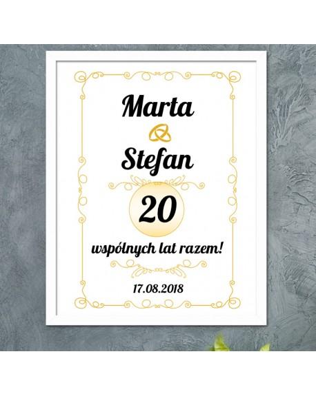 Plakat prezent na Rocznicę - personalizowany